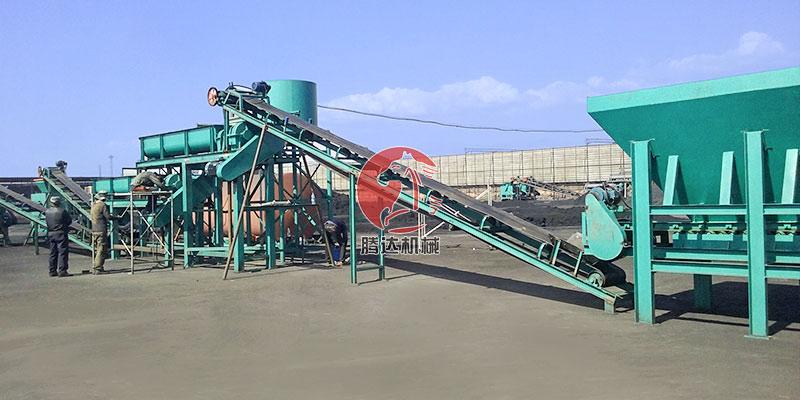 时产15吨压球机生产线